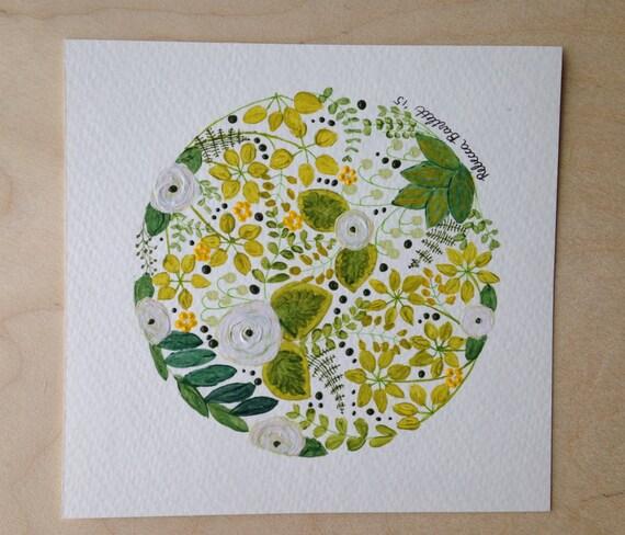 Green Globe - original painting -
