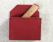 Vintage Ballot Box Painted Red Wood With Original Sticker Snoqualmie's Fire Queen July 27 1946