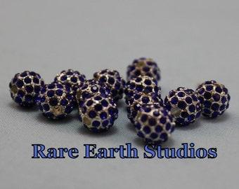 Pave Rhinestone Beads 8mm  60315056