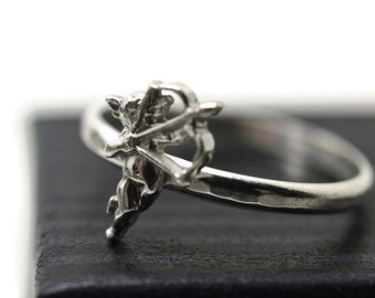 Silver Cupid Ring, God of Love Ring, Eros Ring, Custom Engraved Sterling Silver Ring, Personalized Cherub Ring, Charm Jewelry for Women