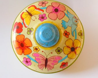 Vintage Toy Top Tin Spinner