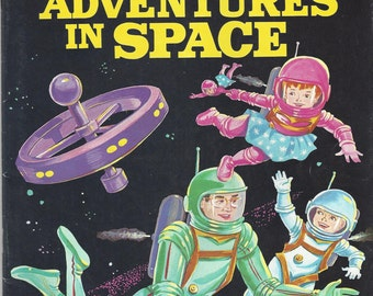 Adventures in Space Vintage Color by Number Book, 1960s