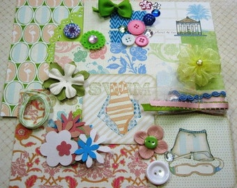 Webster's Pages Palm Beach Embellishment Kit Inspiration Kit for Scrapbook Layouts Cards Mini Albums Tags and Paper crafts 2