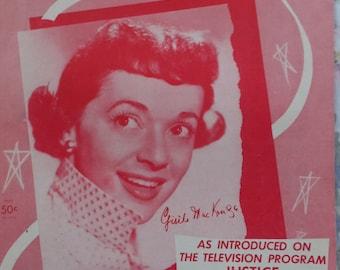1955 Hard To Get Jack Segal Song Book Sheet Music