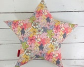 Small Star Cushion -Mauvey Liberty Print fabric
