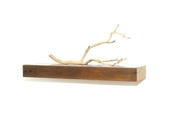 "Reclaimed wood floating shelf - 24"""