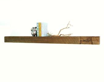 "Reclaimed wood fireplace mantel or floating shelf : 48""- 60"""