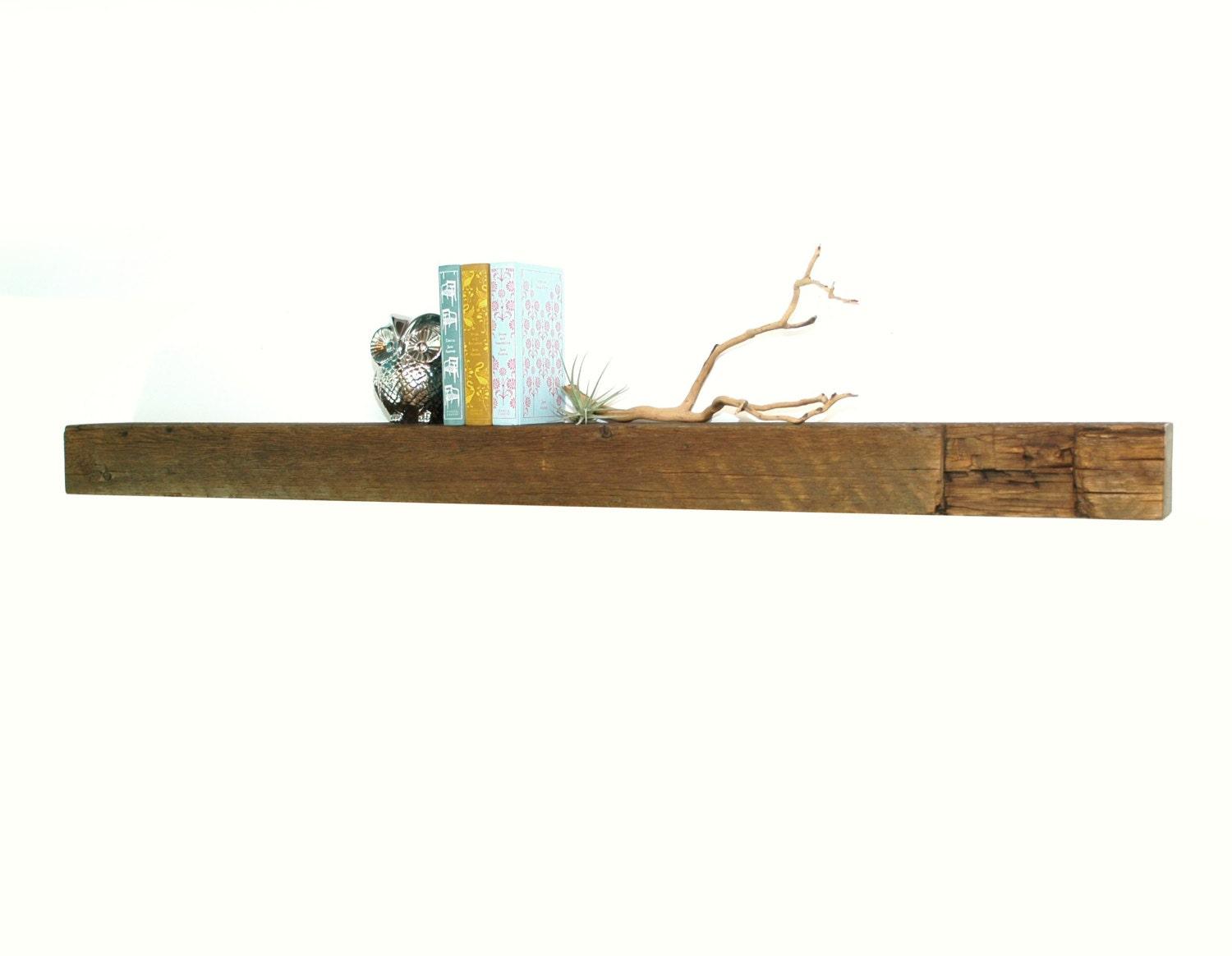 reclaimed wood fireplace mantel or floating shelf 48
