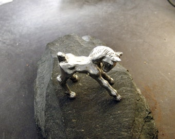 Sterling Silver Foal Sculpture