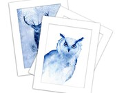 5 x 7 Limited edition print - any of my blue nature watercolour series