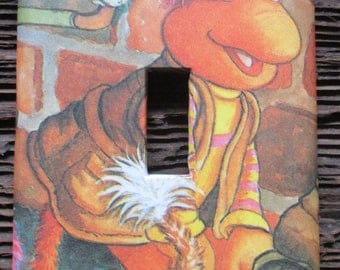 Fraggle Rock Upcycled / Recycled Light Switch Plate