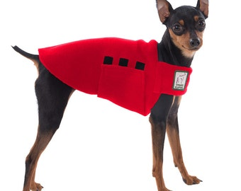 MINIATURE PINSCHER Tummy Warmer, Dog Coat, Dog Clothing, Fleece Dog Coat, Dog Sweater