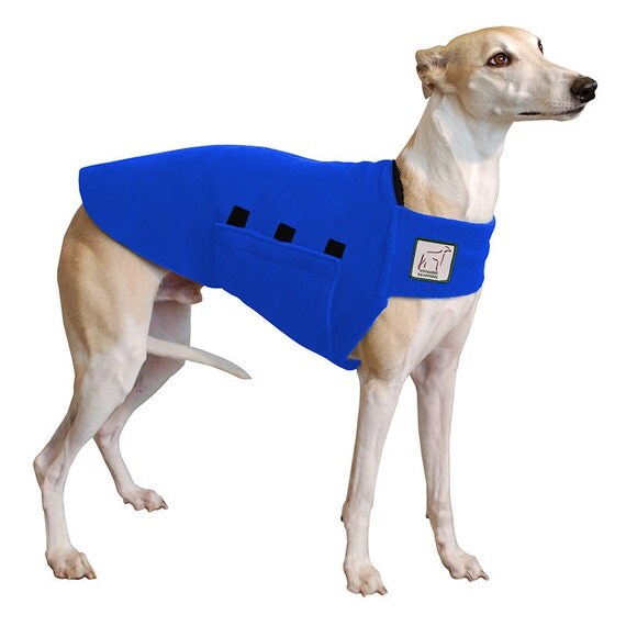 WHIPPET Tummy Warmer, Whippet coat, Dog Coat, Fleece Dog Coat
