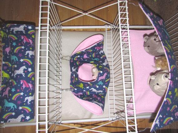 3pc ferret hammocks bedding chinchilla rabbits guinea