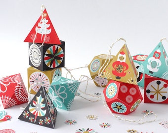 Christmas DIY Paper Decoration Kit Scandinavian Holiday Decor