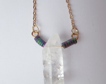 Skadi, strawberry quartz necklace