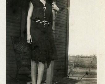 "Vintage Photo ""Welcome Home Smile"" Snapshot Photo Old Antique Photo Black & White Photography Found Photo Paper Ephemera Vernacular - 65"