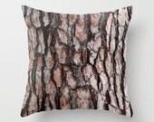 Tree Bark Pillow Cover, Camouflage Pillow Case, Camo Pillow Cover, Nature  Home Decor, Woodland Decor, Pine Bark