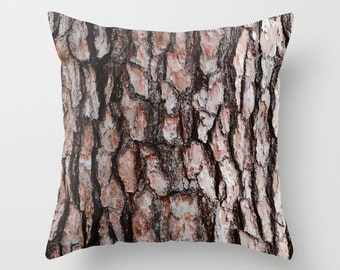 Tree Bark Pillow Cover, Camouflage Pillow Case, Camo Pillow Cover, Nature  Home Decor, Woodland Decor, Pine Bark