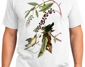Worm eating Warbler Bird Retro Men & Ladies T-shirt - Gift for Bird Lovers and Ornithologist (idc034)