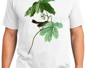 Swamp Sparrow Bird Retro Men & Ladies T-shirt - Gift for Bird Lovers and Ornithologist (idc064)