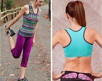 Vitality Racerback Tank & Sports Bra Sewing Pattern: Women's Tank Top Pattern, Women's Sports Bra Pattern