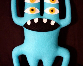 MINI PLUSH MONSTER Seymour in Blue with Two Heads