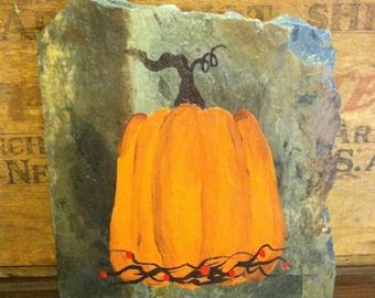 Primitive Pumpkin Plaque