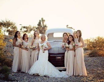Bridesmaid Dresses Convertible Bridesmaid Dress by VanelDesign