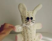 baby bunny blankie pdf crochet pattern - Rabbit amigurumi toy and blanket - newborn baby shower nursery gift blanket -  Instant DOWNLOAD