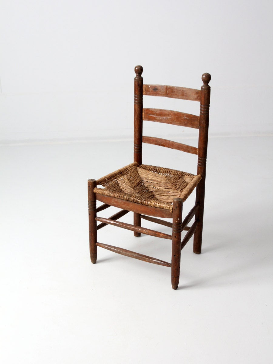 Antique rush seat chair with ladder back Ladder back chairs