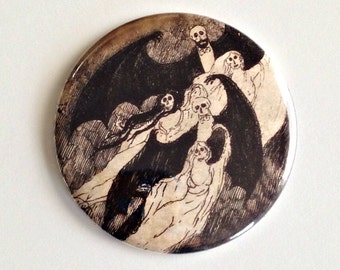 "Gorey Vampires -  2.25"" Button"