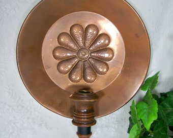 Vintage Pressed Copper Wall Sconce