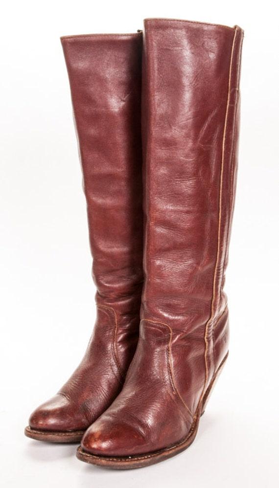 frye high heel s boot size 8 by metropolisnycvintage