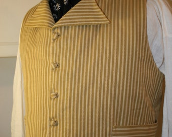 Mens Early 19th Century Regency / Federalist Era Waistcoat / Vest