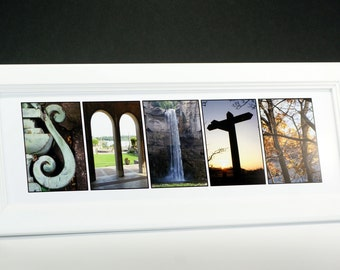 Framed Personalized Name -  Original Alphabet Photography Wedding Gift or Graduation ~ Exclusively by Creative Letter Art©