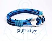 nautical bracelet,maritime cord,parachute bracelet,MADE TO ORDER,sailing rope bracelet,sail jewelry,anchor bracelet,maritime jewelry