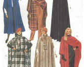 90s Womens Capes, Hooded Gothic Cape Steampunk Cape McCalls Sewing Pattern 8936 Size 6 8 10 12 14 16 18 20 Bust 30 1/2 to 42 Opera Cape