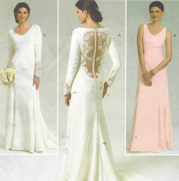 Plus size wedding dress pattern butterick sewing pattern b5779 for Wedding dress patterns plus size