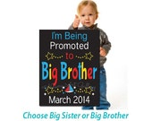 I'm going to be a big brother, DIGITAL FILE, PRINTABLE, pregnancy announcement, Promoted to big brother, maternity announcement