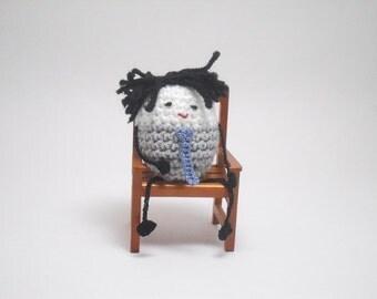Little Crochet People, Desk Toy, Tiny People, Little People, Mr Grey