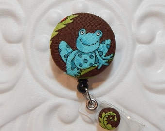 Cute Frog Retractable Badge Holder - Nurse Badge Reel - Id Holder - Badge Lanyard - Id Badge Holder - Name Badge Holder