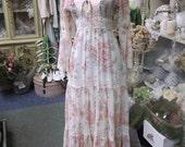 Vintage Gunne Sax Style Prairie Dress
