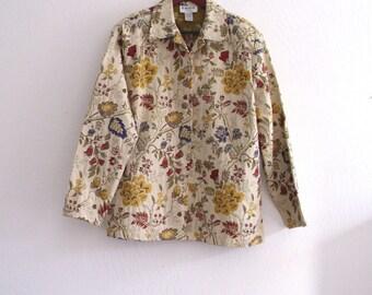 Women Vintage Tapestry  Jacket/ brocade  Floral Boho Hippie jacket