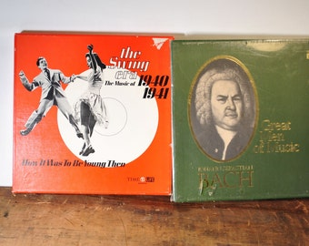 Two sets Time Life Records Swing Era