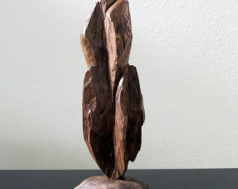 RESERVED - Rustic Wood Sculpture Figure