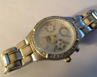 Ladies Watch 12 Diamond Bracelet Two Tone Stainless Steel MOP