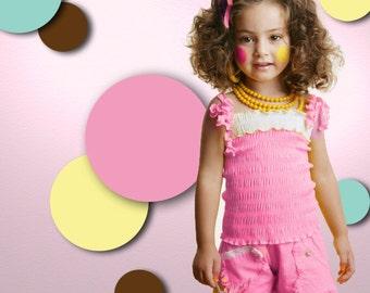Polka Dot Wall Stencils for Kids Room or Baby Nursery (stl1015)