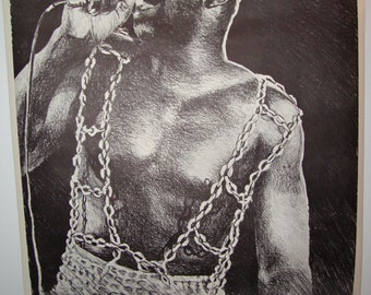 """Vintage Original """"Chained"""" Poster Isaac Hayes"""