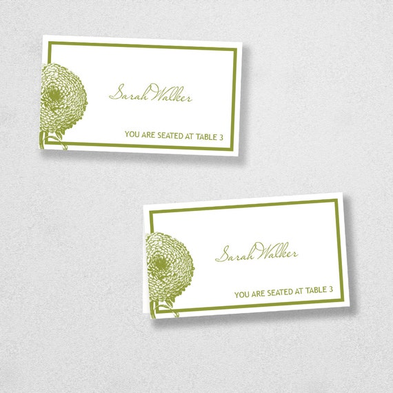 Avery Place Card Template INSTANT DOWNLOAD Florel Design